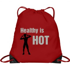 Healthy is HOT cinch bag