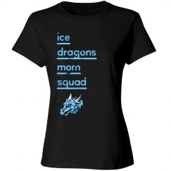 #19 Ladies-Relaxed Fit Tee-Port&Co.Brand-Mom Squad-blac