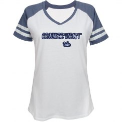 Connecticut Tribe Varsity Tee (womens/uconn blue)