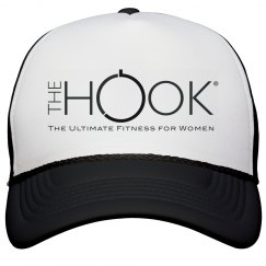 Hook Trucker Hat black and white logo