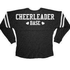 Cheerleader Base Cheer Girl Squad Long Sleeve Slub