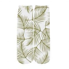 Custom Tropical Palm Socks