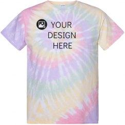 Custom Hazy Pastel Tie-Dye Tee