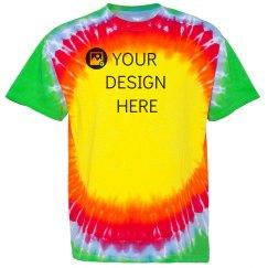 Custom Bullseye Rainbow Tie-Dye Tee