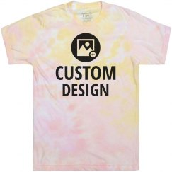 Custom Muted Pastel Tie-Dye Tee