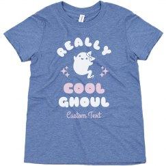 Really Cool Ghoul Custom Kids Tee