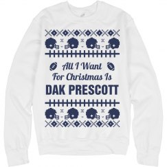 Football Sweater I Want Prescott