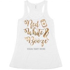 Metallic Custom Red White & Booze