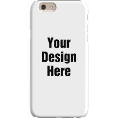 Custom iPone 6 Slim Fit Snap Case