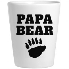 Papa Bear Father's Day Shot Glass