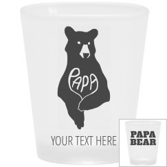 Father's Day Papa Bear Shot Glass