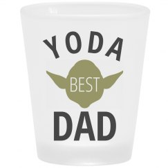 Yoda Best Dad Frosted Shot Glass