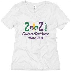 2021 Mardi Gras Vaccine Tee