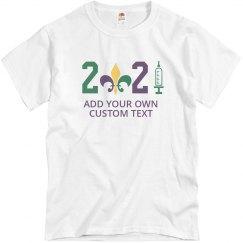 2021 Custom Mardi Gras Vaccine Tee