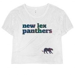 New Lex Glitter Flowy Crop top