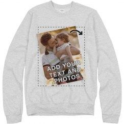 Customizable Sweatshirts Upload Image