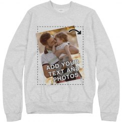 Customizable Sweatshirts Upload Image