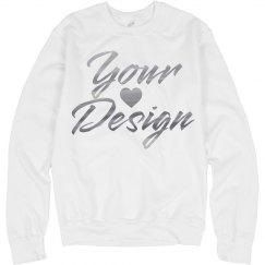 Custom Metallic Text Sweatshirt
