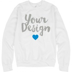 Custom Metallic Text Sweatshirt