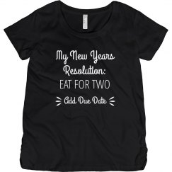 New Years Resolution Eat For Two