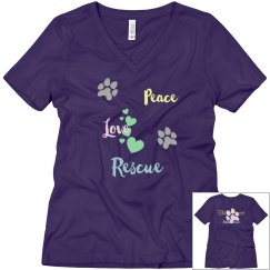 Peace/Love/Rescue Tee