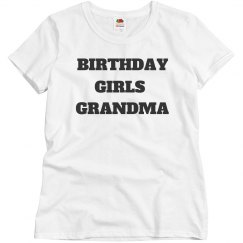 Birthday girls grandma