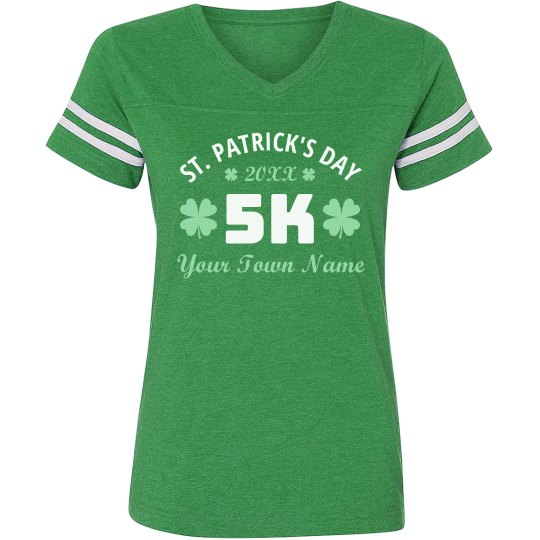 191716af2 St. Patrick's 5K Custom Running Ladies Relaxed Fit Vintage Sports T-Shirt