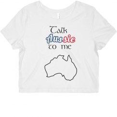 Talk Aussie To me crop top