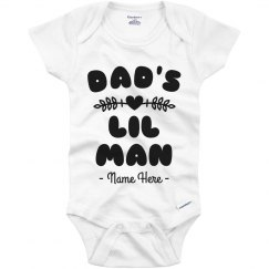 Dad's Lil Man Personalized Father's Day Onesie
