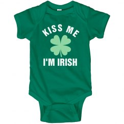 Kiss Me I'm Irish Green Baby