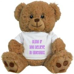 Blink if you Believe in Unicorns
