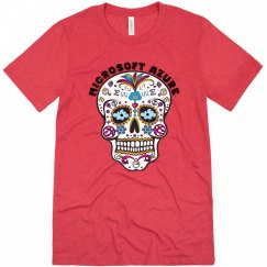 Azure Day of the Dead Red Triblend