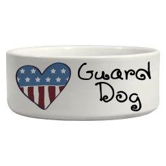 Whimsical Patriotic Heart Guard Dog