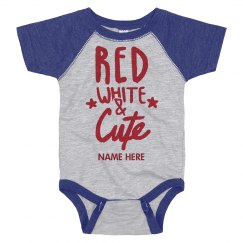 Personalized Red White Cute Onesie