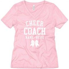 Cheer Coach Custom Boyfriend Tee