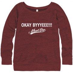 NhanStop Models Vanessa LS Wideneck Sweatshirt