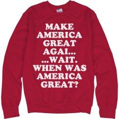 America Great Again?
