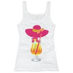 Floppy Hat Tropical Drink