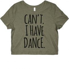 I Have Dance Jersey Crop