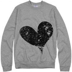Women's marble heart LS