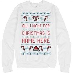 Custom Xmas Personal Ugly Sweater