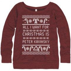 I Want Peter Kavinsky Ugly Sweater