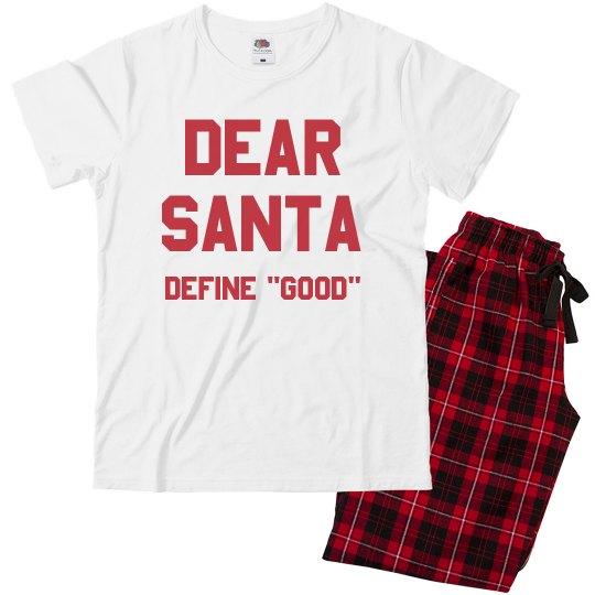 Christmas Pajamas.Dear Santa Kids Christmas Pajamas