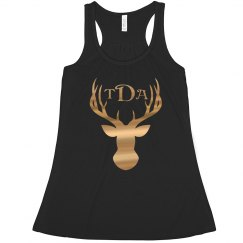 Metallic Gold Deer Monogram