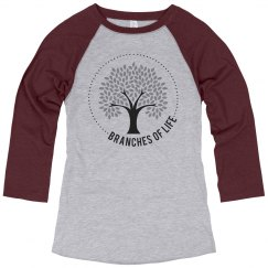 Branches Women's Baseball Tee