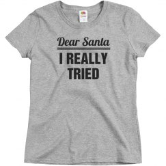 Dear Santa I Really Tried