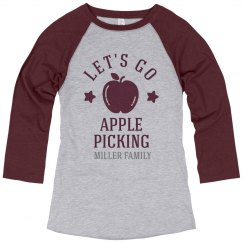 Custom Vintage Family Apple Picking