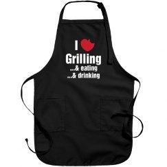 I Love Grilling Apron
