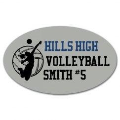 Hills Volleyball Sticker