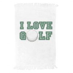 I Love Golf Towel